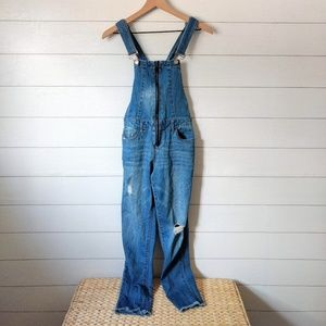 Dollhouse Distressed Overalls Jrs Size 3 / 26